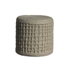 Poef Wool braided 40x40x45 cm - Beige