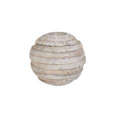 Waxinelichthouder Rond Antiek Grijs - 14cm hoog - Doorsnee 15cm
