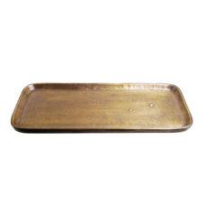 Schaal ruw antiek brons rechthoek 31x11cm