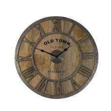 Klok Old Town - Baily Hout - Ruw Nikkel - Doorsnee 61cm