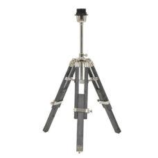 Tafellamp Driepoot - Antiek Grijs - 37x33x47-60cm