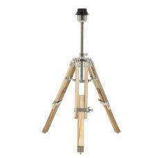 Tafellamp Driepoot - Naturel Hout - 37x33x47-60cm