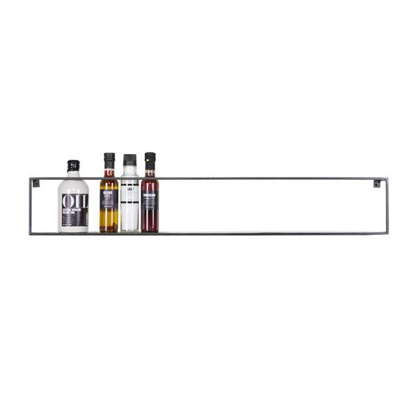 Wandplank metaal Groot - 16 x 100 x 8 cm