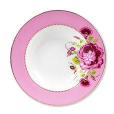 Pastabord Floral Roze - 26,5 cm