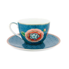 Cappuccino kop en schotel Spring to Life Groen