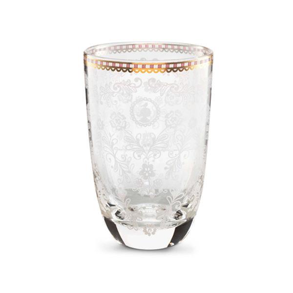 Longdrink glas floral clear
