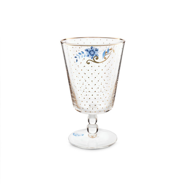 Waterglas Pip - royal golden dots