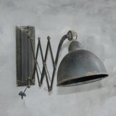 Wandlamp Spijk met schaarfunctie Zwart - 100x20x40cm