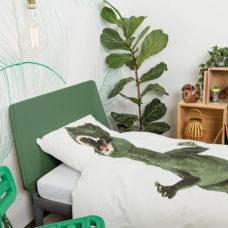 SNURK Dino dekbedovertrek 140 x 200/220 cm