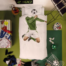 SNURK Soccer groen dekbedovertrek 140 x 200/220 cm