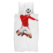 SNURK Soccer rood dekbedovertrek 140 x 200/220 cm