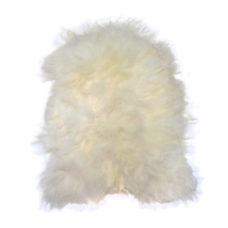HK Living schapenvacht wit 100x90cm