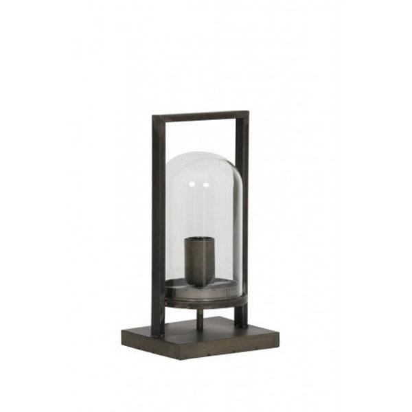 Tafellamp lantaarn Antiek Zwart 17x14x32,5cm