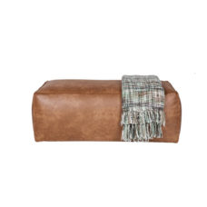 BePure Rodeo hocker 43x120x60 cognac
