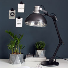 Tafellamp industrieel Brooklyn zwart