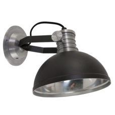 Wandlamp industrieel Brooklyn zwart