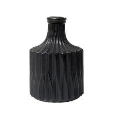 HK Living Keramische geometrische vaas zwart