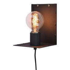 Wandlamp vintage black