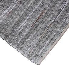 Vloerkleed grey-silver 170x240 leder