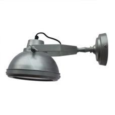 Wandlamp antiek zink + onderkap - 20cm