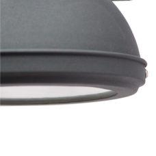 Wandlamp antiek black + onderkap - 20cm