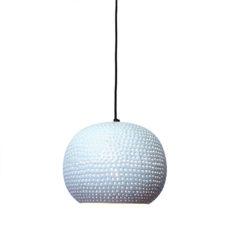 Hanglamp bol wit/koper 27x21cm