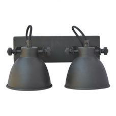 Wandlamp dubbel zwart - Doorsnee 12,5cm