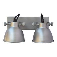 Wandlamp Dubbel Zink - Diameter 12,5cm