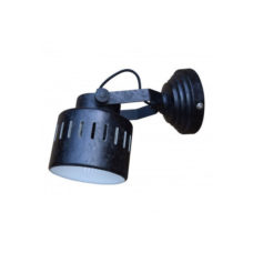 Wandlamp Vintage Rough Black - 11,5cm