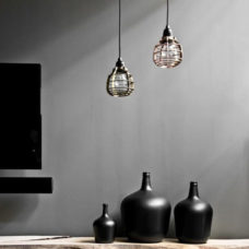 HK Living Hanglamp LAB mat grijs