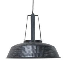 HK Living Hanglamp Workshop rustiek mat zwart L