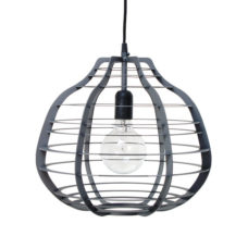 HK Living Hanglamp LAB XL mat grijs