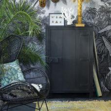 HK Living geprint overdyed kleed 120x180cm