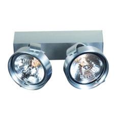 Plafondlamp/Spot 2-lichts Alu