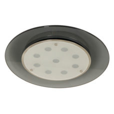 Ronde plafondlamp dubbel glas - Grijs