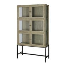 BePureHome Showcase vitrinekast 6-deurs metaal/hout