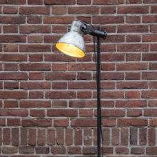 Vloerlamp met verstelbare kap 17,5cm zink