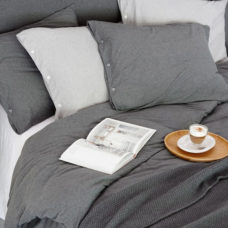 House in Style - Dekbedovertrek Luna Grey Melange 240x220+40cm