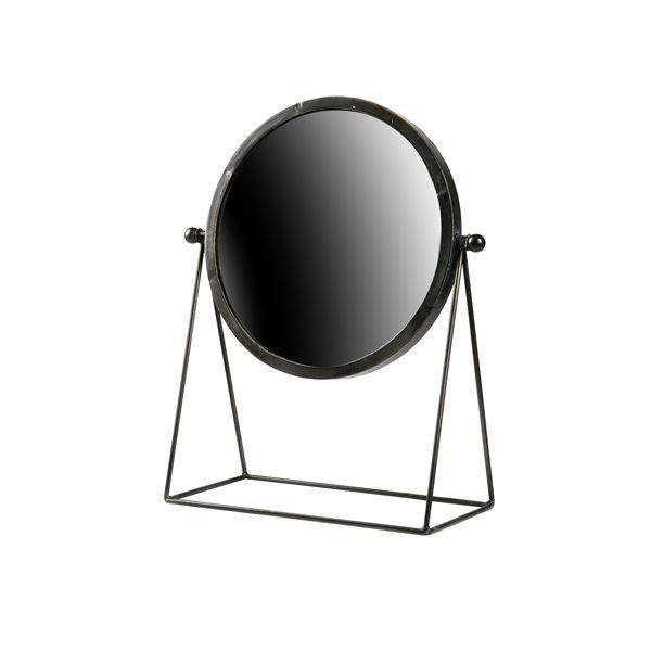 BePureHome Hi spiegel metaal zwart