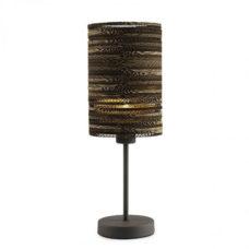 Tafellamp recht gerecycled karton - bruin
