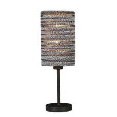 Tafellamp recht gerecycled karton - wit