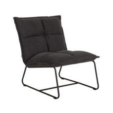 Lounge chair cloud stonewashed cotton charcoal - 78x68x85cm