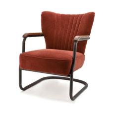 Alice fauteuil met frame - Velours brique