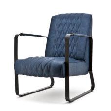 Milan fauteuil met frame - Blauw