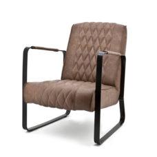 Milan fauteuil met frame - Bruin