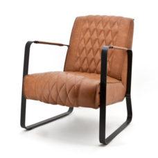 Milan fauteuil met frame - Cognac