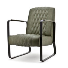 Milan fauteuil met frame - Groen