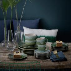 HK Living 70's dessert bord - Moss