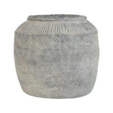 HK Living cement bloempot L