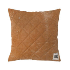 STBR leather quilted cushion